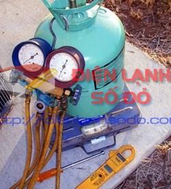 Hướng dẫn kiểm tra bơm xạc rút gas máy lạnh, sua may lanh, ve sinh may lanh, sua may lanh tai nha, huong dan bom gas